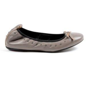 Andrew Charles Ballerina Grey Flats
